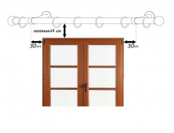 Galerie dubla pentru perete suport universal -PRINCE /19 - inox