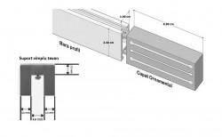 Galerie SQUARE LINE prindere tavan - SQUARE - ARTIS crom mat - prindere tavan
