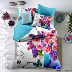 Lenjerie de pat poplin - două persoane (QY-1194)