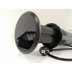 Multipriza SMART incorporabila pentru blat de bucatarie 2xSchuko 2xUSB 1xincarcator wireless 1xboxa bluetooth, cordon 1.5m