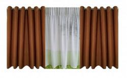 Set complet pentru fereastra DRAPERIE CATIFEA V12 CU INELE INOX + PERDEA 1008