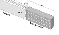 Galerie SIMPLA SQUARE LINE prindere tavan - SQUARE - G-TECH crom mat
