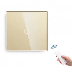 Întrerupător tactil simplu cu senzor telecomandă M1 crem