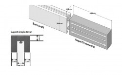 Galerie SQUARE LINE prindere tavan - SQUARE - G-tech crom mat - prindere tavan