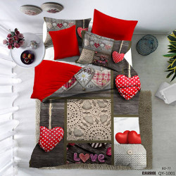 Lenjerie de pat poplin - două persoane (QY-1001)