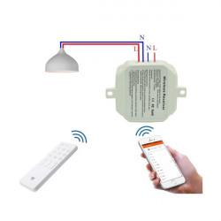 Releu control Wi-Fi si radiofrecventa 433 Mhz comptibil Google Home si Amazon Alexa