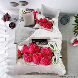 Lenjerie de pat poplin - două persoane (QY-1193)