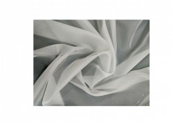 Set complet pentru fereastra Galerie Kula Crystal 19/19 - inox + Perdea 1008-V03 krem + Draperie CATIFEA V13- inele capse inox