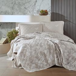 Cuvertură de pat Clasy-matlasată 2 persoane (NATUR V2)