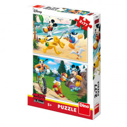Puzzle 2 in 1 - Mickey campionul (77 piese)