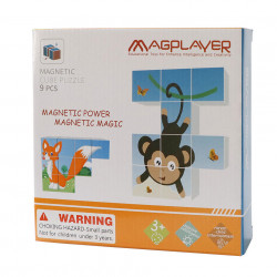 Puzzle cubic magnetic - Animalute vesele