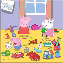 Puzzle 3 in 1 - Purcelusa Peppa in vacanta (55 piese)