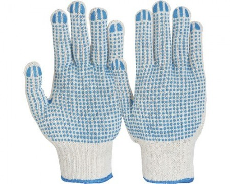 Poze Manusi de protectie Picou tricotate din fibre mixte, puncte din PVC pe ambele fete