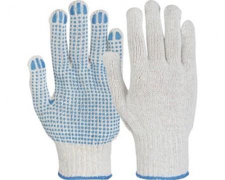 Poze Manusi de protectie Picou tricotate din fibre mixte, puncte din PVC in palma