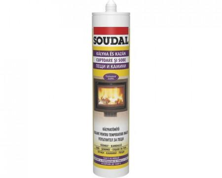 Mastic Soudal +1500ºC, 300 ml