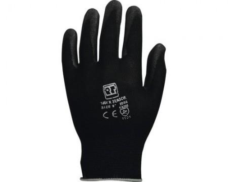 Poze Manusi de protectie Sensor tricotate din nailon, imersate in poliuretan, negre, marimea 10