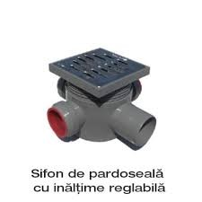 Poze sifon pardoseala capac inox- 3 int D40- 1 ies D50