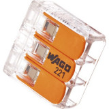 Cleme cabluri Wago 3x max. 4 mm² 10 bucati