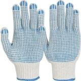 Manusi de protectie Picou tricotate din fibre mixte, puncte din PVC pe ambele fete