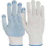 Manusi de protectie Picou tricotate din fibre mixte, puncte din PVC in palma