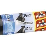 Saci menaj Fino Economy 35L 49 x 60 cm, negri, 30 bucati