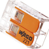 Cleme cabluri Wago 2x max. 4 mm² 10 bucati