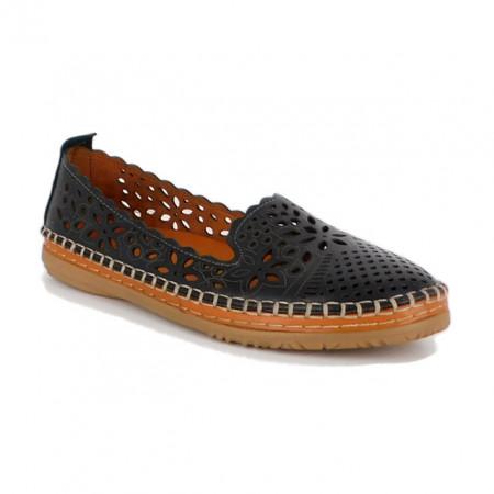Pantofi Pass, model K1117, pentru vara, culoare neagra