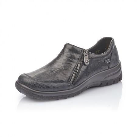 Pantofi Rieker L7152, impermeabili, culoare neagra