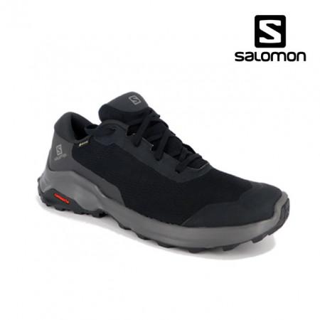 Pantofi Salomon X Reveal, impermeabili, Gore-tex, culoare gri cu negru