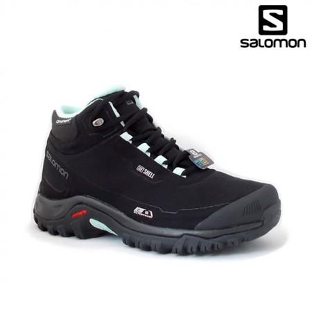 Ghete Salomon Shelter, pentru iarna, impermeabile, comfort termic pana la -7 grade,culoare negru cu albastru