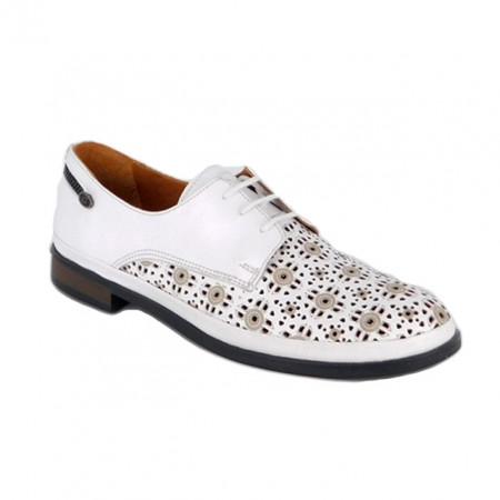 Pantofi Anna Viotti, model 888, pentru vara, culoare alba
