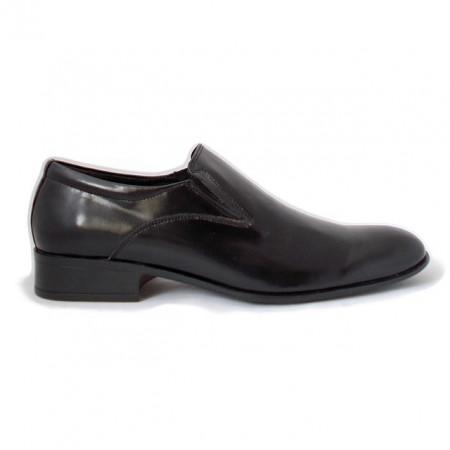 Pantofi C187, piele lacuita, culoare neagra