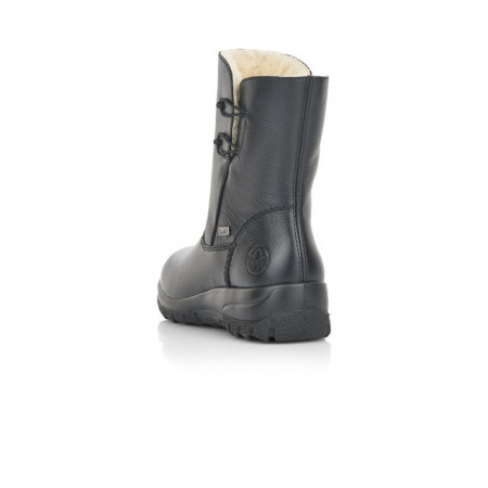 Cizme Rieker Z7152, impermeabile, blana naturala, culoare neagra