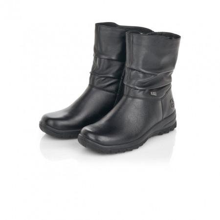 Cizme Rieker Z7193, impermeabile, blana naturala, culoare neagra