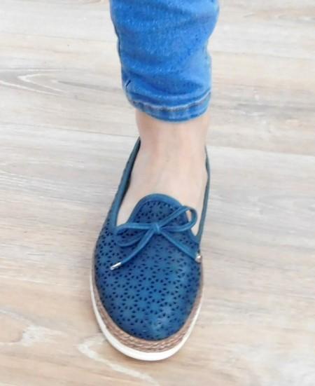 Pantofi Pemla, culoare albastru inchis