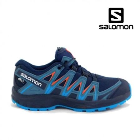 Pantofi Salomon XA Pro 3D junior, impermeabili, culoare albastra