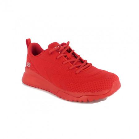 Pantofi Skechers Bobs Squad 3, talpa din spuma cu memorie, culoare rosie