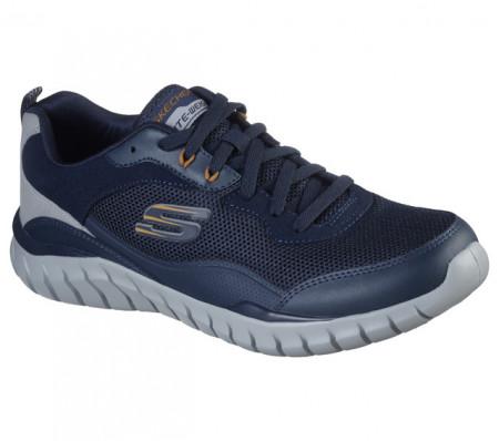 Pantofi Skechers Overhaul Betley, talpa din spuma cu memorie, culoare albastra