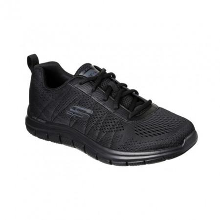 Pantofi Skechers Track Moulton, talpa din spuma cu memorie, culoare neagra