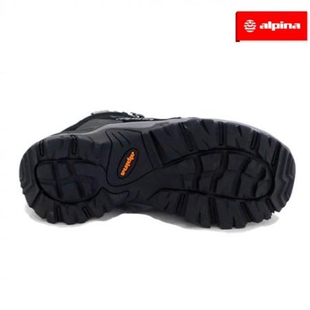 Ghete Alpina, model Trecker, impermeabili, culoare negru cu gri