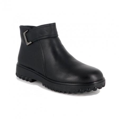Ghete Pass, model 30803, imblanite, culoare neagra