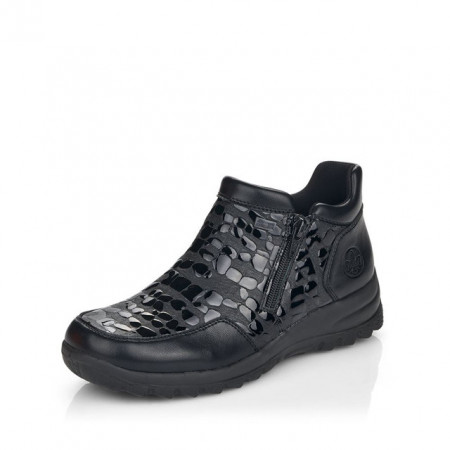 Ghete Rieker L7182, impermeabile, lana naturala, culoare neagra