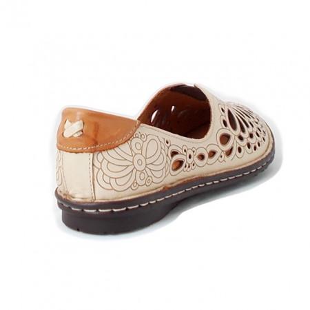 Pantofi Anna Viotti, model 2104, culoare bej