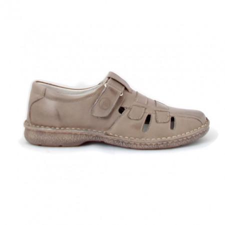 Pantofi G223, pentru vara, culoare greige