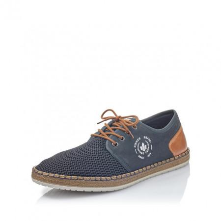 Pantofi Rieker, model B5249, pentru vara, culoare albastru inchis