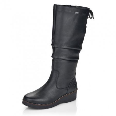 Cizme Rieker, model Y4693, impermeabile, blana naturala, culoare neagra