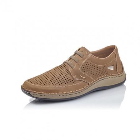 Pantofi Rieker 05259 , pentru vara, culoare bej, siret elastic