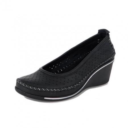 Pantofi Anna Viotti, model 114, pentru vara, culoare neagra