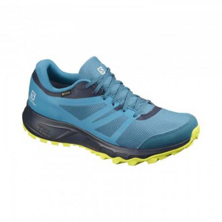 Pantofi Salomon Trailster 2, impermeabili, Gore-tex, culoare albastru cu galben