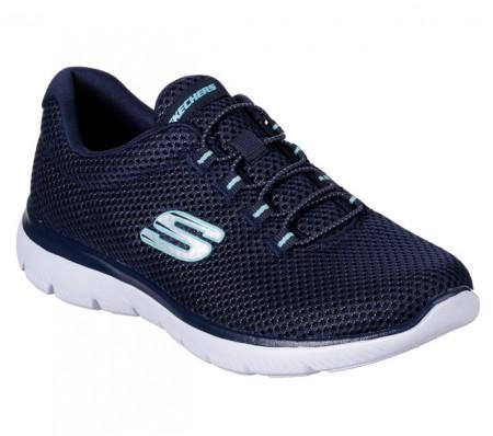 Pantofi Skechers Summits, talpa din spuma cu memorie, culoare albastra